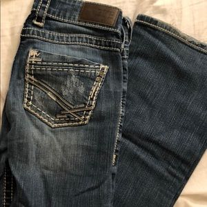 Lightly worn jeans